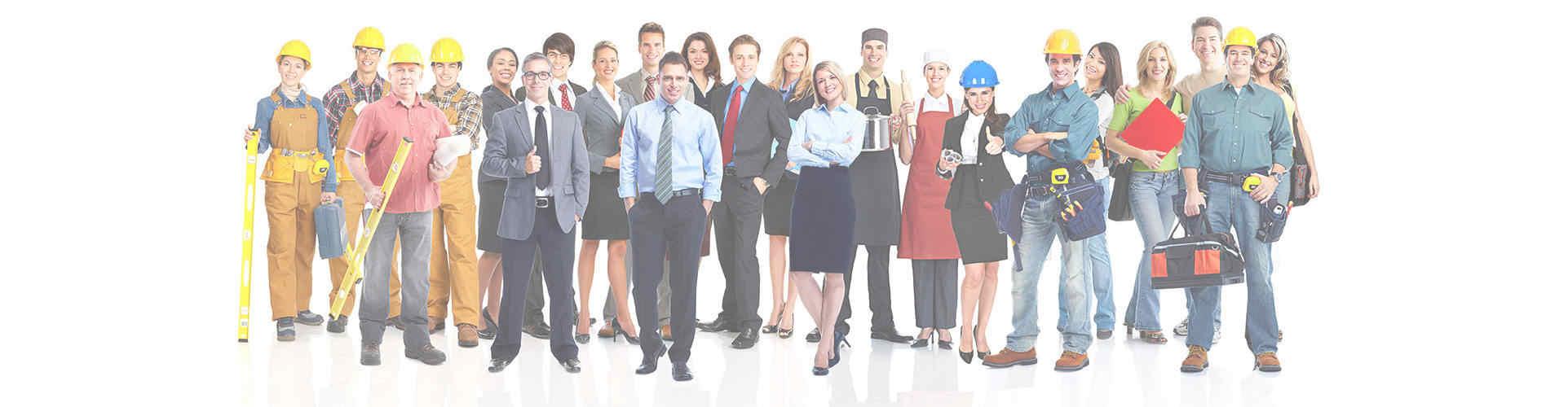 Professionals in de dienstverlening